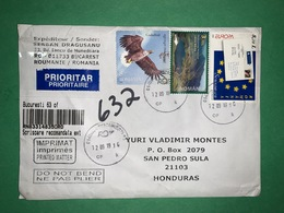 Registered Cover Romania 2019 , Eagle And Europa Stamps - Lettere