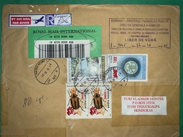 Registered Cover Romania 2001 , Olympic , Beatles - Lettere