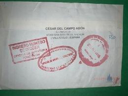 Cover Spain 2012, Postmark Honduras INGRESO HUMEDO DE ORIGEN - 1931-Heute: 2. Rep. - ... Juan Carlos I