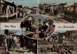 UNE FOIRE EN NORMANDIE..LESSAY...5 VUES...CPSM GRAND FORMAT ANIMEE - Basse-Normandie