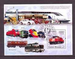 GUINEE-BISSAU 2006 TRAINS  Y N°B315  OBLITERE - Trains