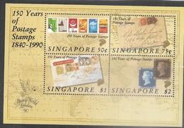 Singapore  1990  Sc#566a Penny Black Souv Sheet  MNH    2016 Scott Value $10.50 - Singapore (1959-...)