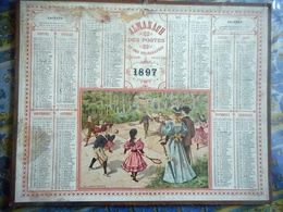 ALMANACH DES POSTES ET DES TELEGRAPHES CALVADOS 1897 LE LAWN TENNIS - Calendriers