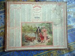 ALMANACH DES POSTES ET DES TELEGRAPHES CALVADOS 1896 AU BORD DU LAC - Calendars