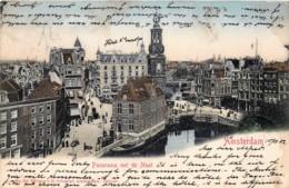 Pays-Bas - Amsterdam - Panorama Met De Munt - Kleuren - Amsterdam