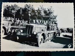 GERMAN Photo WW2 WWII ARCHIVE : SdKfz 7 Av CANON Artillerie _ WEHRMACHT - Guerre, Militaire