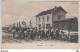 AMBONNAY LA GARE TRAVAUX SUR LA VOIE TBE - France