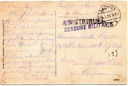 CV D'Aachen Vers Liège (1919) - Griffes CENSURE MILITAIRE Et A DISTRIBUER - WW I