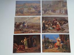 """Beau Lot De 12 Cartes Postales De """" L' Histoire Sainte """" """" Josué Et La Première Période Des Juges """"  12 Postkaarten - 5 - 99 Postcards"""