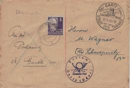 3b Gartz Oder - Stettiner Tor 1249 1949 - Stadt Des Tabaks - Gerhart Hauptmann Schwepnitz Dresden - Doppelverwendung - Drogue