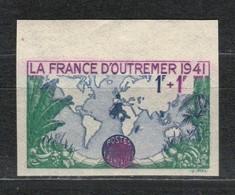 France N°503a ** BdF Non Dentelé - France