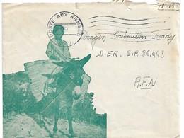 Enveloppe Illustrée Enfant Ane Poste Aux Armées Afn 1957 - Algérie (1924-1962)