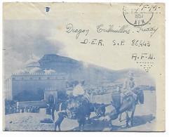 Enveloppe Illustrée Enfant Ane Paysage  Poste Aux Armées Afn 1957 - Algérie (1924-1962)