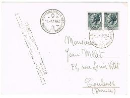 MOSTRA INT.LE FRANCOBOLLO MEDICO ROMA 1954 POSTCARD TO FRANCE - Affrancature Meccaniche Rosse (EMA)