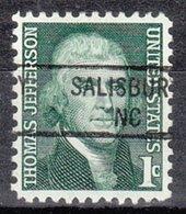 USA Precancel Vorausentwertung Preo, Locals North Carolina, Salisbury 841 - Estados Unidos