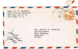 US POSTAL ARMY SERVICE APO 149 NY TO MICHIGAN 1944 MAY - Marcofilia