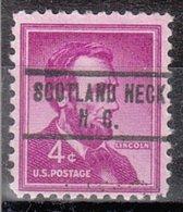 USA Precancel Vorausentwertung Preo, Locals North Carolina, Scotland Neck 734 - United States