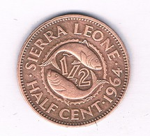 1/2 CENT 1964 SIERRA LEONE/3631/ - Sierra Leone
