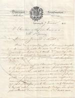 Lettre Du Maire D'Epernay, 7/2/1831 Avec Bel En-tête - Historical Documents