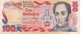 BILLETE DE VENEZUELA DE 100 BOLIVARES DEL AÑO 1980 SERIE A  (BANKNOTE) - Venezuela
