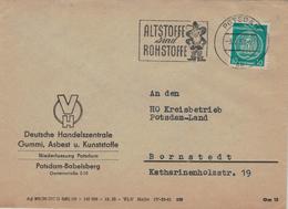 Deutsche Handelszentrale Gummi Asbest Kunststoff - Altstoffe Sind Rohstoffe - Potsdam 1958 - Dienst-Marke Rumpelmännchen - Pollution
