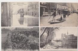 27992 Lot Cpa 4 PARIS Crue Crues Inondations SEINE PARIS 1910 Passage Grenelle Tour Maubourg Pont Tolbiac Ordures NDame - Alluvioni Del 1910