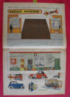 Découpage Diorama à Construire. Garage Moderne Michelin Bibendum Voiture Vélo Moto. 1935 - Collections
