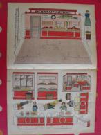 Découpage Diorama à Construire. Poissonnerie, Huitres Poissons Crabes Magasin. 1935 - Collections