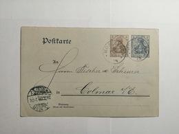 Deutsches Reich  Postkarte 1908 - Allemagne