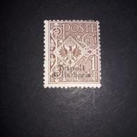 """PL0253 REGNO D'ITALIA UFF. POSTALI ESTERO TRIPOLI DI BARBERIA 1909 FRANCOBOLLI D'ITALIA 1901-09 1 CENT. BRUNO """"X"""" - 11. Foreign Offices"""