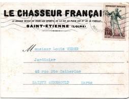 Saint-Etienne 1954 - Carte Correspondance Le Chasseur Français - 2 Scans - Saint Etienne