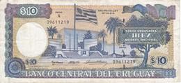 BILLETE DE URUGUAY DE 10 PESOS DEL AÑO 1995 SERIE A  (BANK NOTE) - Uruguay