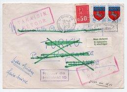 - LETTRE ROYAN Pour TURKU (Finlande) 17.8.1972 - TAKAISIN RETOUR - Retour De Helsinki 10 - A ÉTUDIER - - France