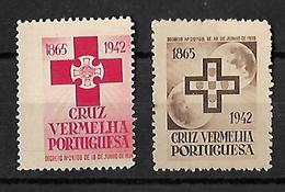 Variety CRUZ VERMELHA PORTUGUESA AN 1942 CROIX ROUGE Big Error In Red Stamp - Franchise
