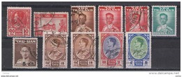 SIAM:  1928/62  VARI  -  INSIEME  11  VAL. US. -  YV/TELL. 196//344 - Siam
