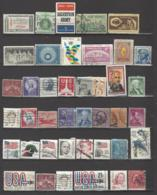 41 TIMBRES ETATS UNIS - Colecciones & Lotes