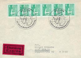 1080 Berlin - Pinguin Antarktisvertrag SST 25 Jahre - Eilsendung - Palast Der Republik - Traité Sur L'Antarctique