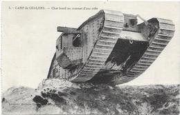 CHAR LOURD AU SOMMET D'UNE CRETE - Guerre 1914-18