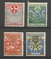 Nederland Pays-Bas Netherlands NVPH 199/202 Complete Set Mint / MH / * 1926 - Ungebraucht