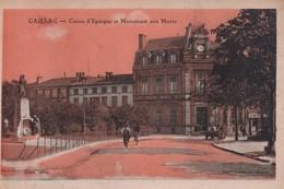CPA, Gaillac, V+Caisse D'Epargne Et Monument Aux Morts, Animée, Dost éditeur - Gaillac