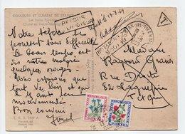 - Carte Postale AX-LES-THERMES (Ariège) Pour LAGUÉPIE (Tarn-et-Garonne) 11.8.1969 - TAXÉE 50c. + 10 C. Fleurs Des Champs - Postage Due