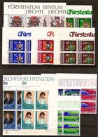 (Fb).Liechtenstein.1982.Serie Complete In Quartine Nuove,gomma Integra,MNH (57-20) - Liechtenstein