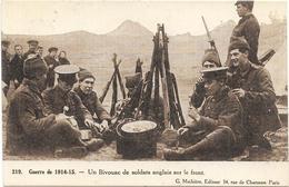 UN BIVOUAC DE SOLDATS - Weltkrieg 1914-18