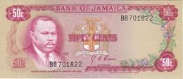 BILLETE DE JAMAICA DE 50 CENTS DEL AÑO 1960 SIN CIRCULAR - UNCIRCULATED (BANKNOTE) - Jamaica
