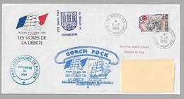 """Tir - Les VOILES De La LIBERTE - ROUEN - Enveloppe Du 11.7.1989 Avec LOGO Officiel - Superbes Cachets """" GORCH FOCK """" - Poststempel (Briefe)"""