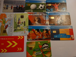 Lot De 10 Cartes De Téléphone Prépayées - Tarjetas Telefónicas