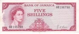BILLETE DE JAMAICA DE 5 SHILLINGS DEL AÑO 1960 CALIDAD EBC (XF) (BANKNOTE) - Jamaica