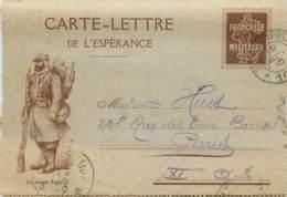 Guerre 14/18 - Nos Alliés - Un Brave Poilu - Carte-lettre De L' Espérance - Guerra 1914-18