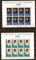 """(Fb).Liechtenstein.1982.""""Liba 82'"""".Due Minifogli  Nuovi,gomma Integra,MNH (58-20) - Liechtenstein"""