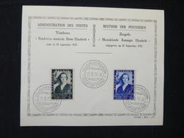 BELG.1937 456-457 Muziekfonds Kon. Elisabeth - Fondation - ....-1951